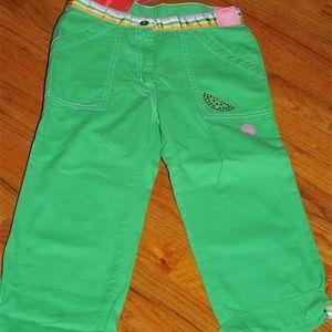 GYMBOREE TUTTI FRUITY Green Capri Pants sz 10 NWT